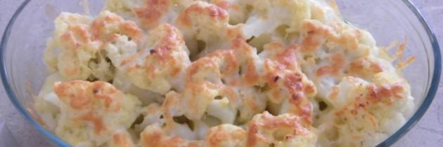 Coliflor gratinada con queso curado