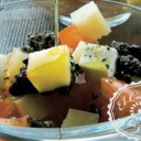 Ensalada de queso con crudités