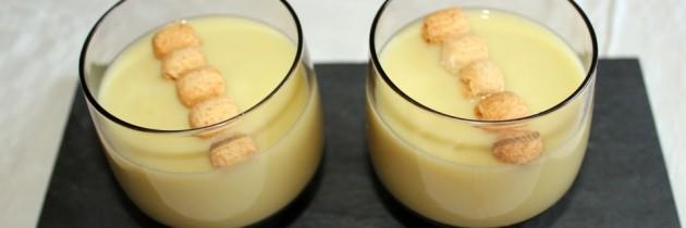 Crema de calabacín, patata y queso