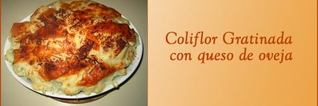 Coliflor Gratinada con Queso de Oveja