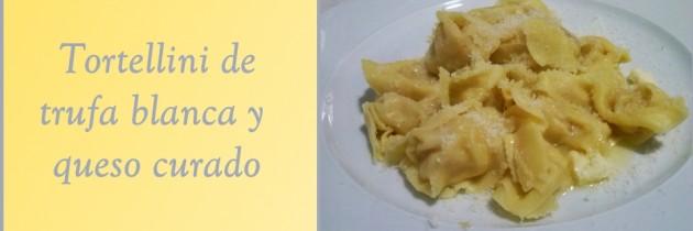 Tortellinis de trufa blanca y queso curado