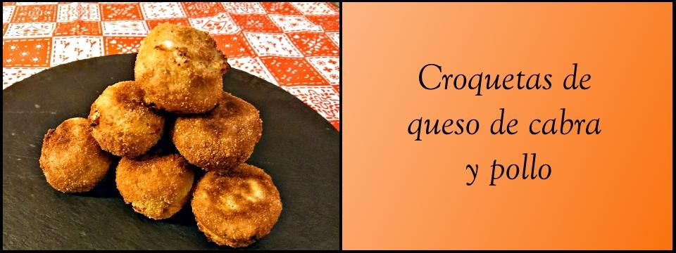 Croquetas de pollo y queso de oveja